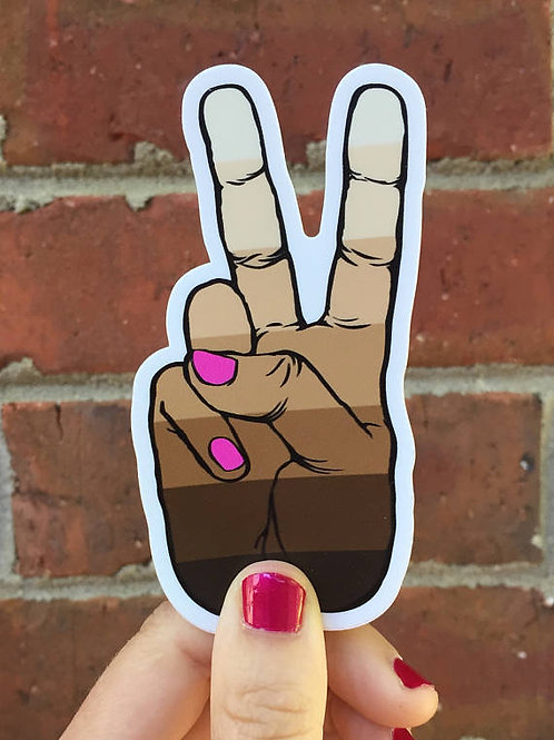 Painted Nails Peace Decal PINK