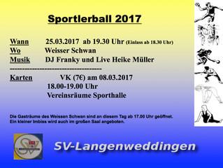 Sportlerball 25.03.2017