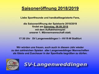 Saisoneröffnung 2018/2019