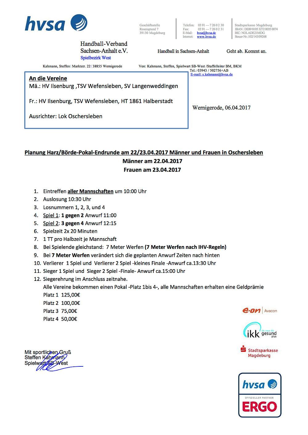 Harz/Börde-Pokal-Endrunde