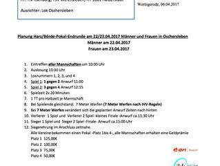 Einladung zum Final Four am 22.04.2017 in Oschersleben