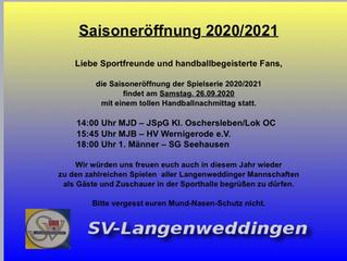 Saisoneröffnung 2020/2021