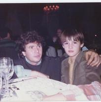 Avec Daniel  Balavoine en 1984