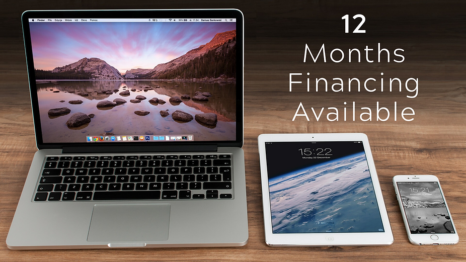 6 and 12 Month Financing available! Buy Now Pay Later! Make payments to upgrade your iPhone, Samsung Galaxy Phone, MacBook, and More!