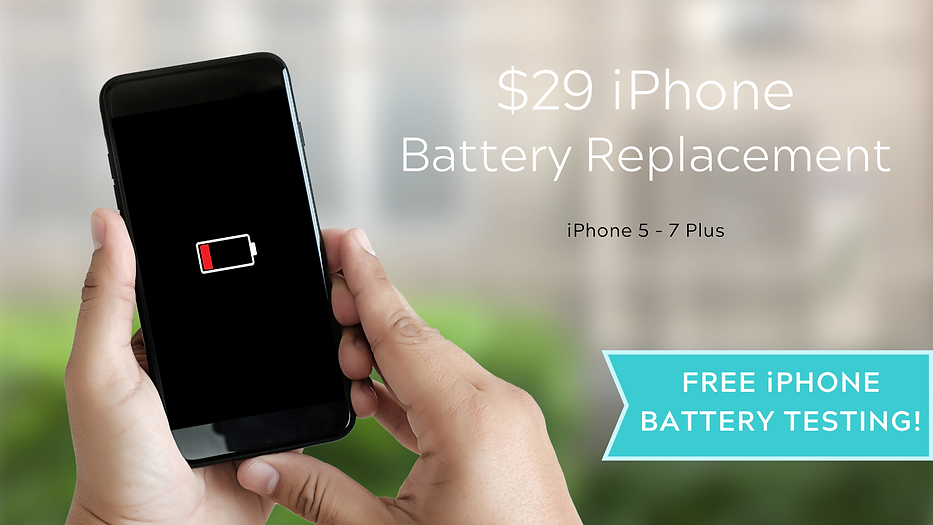 $29 iPhone Battery Replacement Promotion. Charlotte, NC - Ballantyne - Waxhaw, NC - Wesley Chapel, NC - Indian Land, SC - Fort Mill, SC - Rock Hill, SC - Newport, SC - York, SC - Winthrop - UNCC --- Free Phone Battery Diagnostic Testing