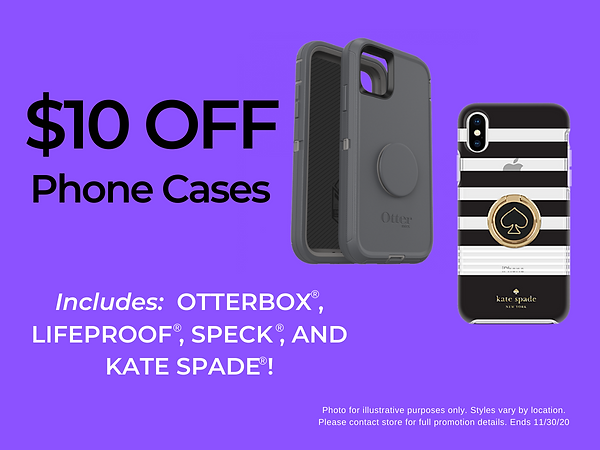 $10 off phone cases from Otterbox, Lifeproof, Speck and Kate Spade