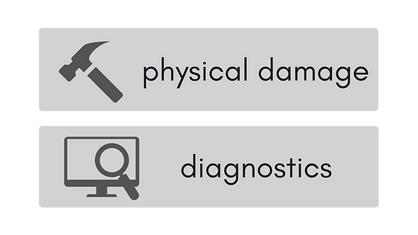 MAC | PC REPAIRS Charlotte, NC - Physical Damage   Diagnostics