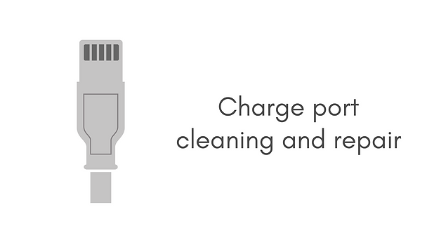 Charge port cleaning and repair