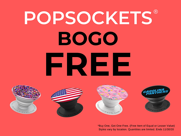 Popsockets BOGO FREE  Popsockets phone grips and pop mounts are Buy One, Get One FREE!