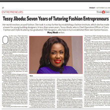 """Seven years of tutoring Fashion Entrepreneurs"""