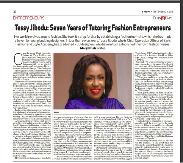 """Seven years of tutoring Fashion Entrepreneurs"""