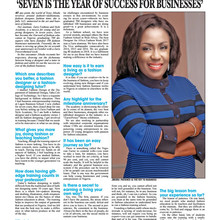 """Seven is the year of success for businesses"""
