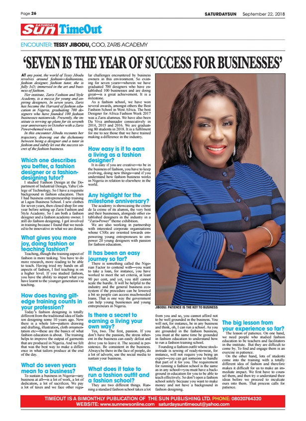 """""""Seven is the year of success for businesses"""""""
