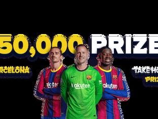 Barça Mania가 떠오르고 있습니다! $ 50,000 상금으로 1xBet의 프로모션에 참여하세요!