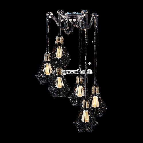 โคมไฟลอฟท์เเละวินเทจ, โคมไฟห้อย, โคมไฟเพดาน, โคมไฟ, โคมไฟโมเดิร์น , โคมไฟกิ่ง, โคมไฟตกแต่ง, Loft P55, Lamp, Pendant lamp