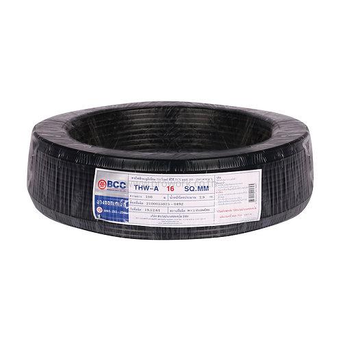 สายไฟ THW-A 16 สีดำ ยี่ห้อ BCC,ร้านไฟฟ้า,อุปกรณ์ไฟฟ้า