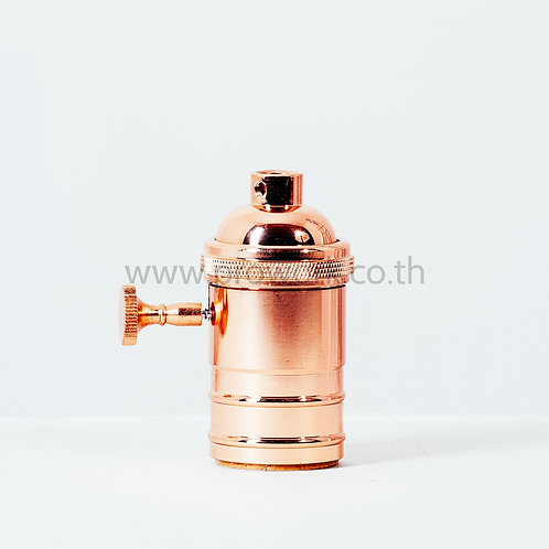 Socket Rosegold with Switch