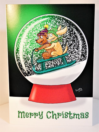 A5 Snowglobe Christmas Card (Personalised)
