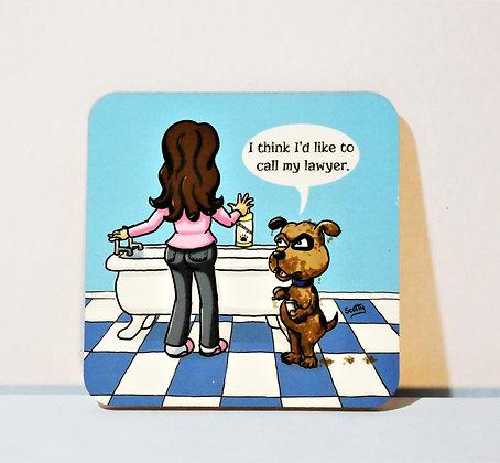 'Dog's Life: Bathtime' Coaster