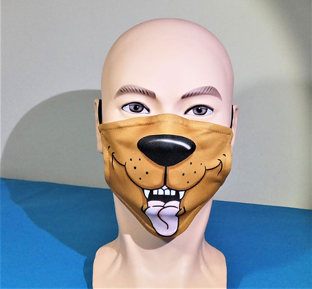 Open Mouthed Dog Face Mask