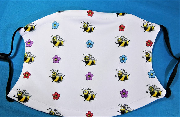 Bees & Flowers Face Mask