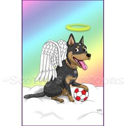 angel dog happy