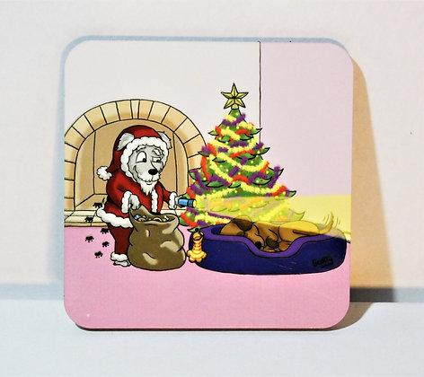 'Christmas: Dog tail' Coaster