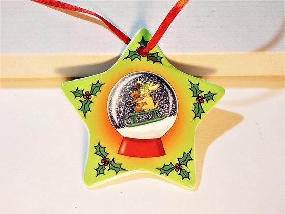 Snowglobe Star Christmas Decoration