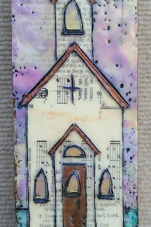Hymnal Original Church Mini Painting (3x9)