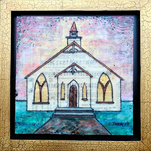 Haven of Rest 8x8 inch framed church