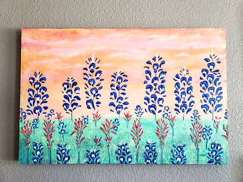 Texas Spring Bluebonnets Painting