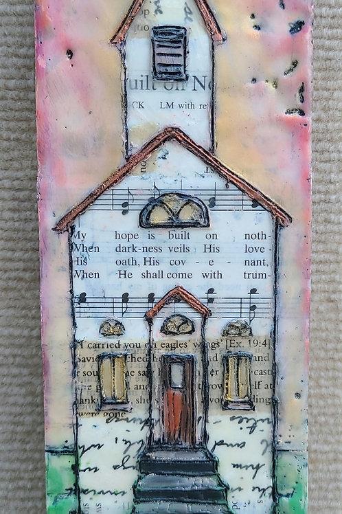 Original Church hymnal mini art