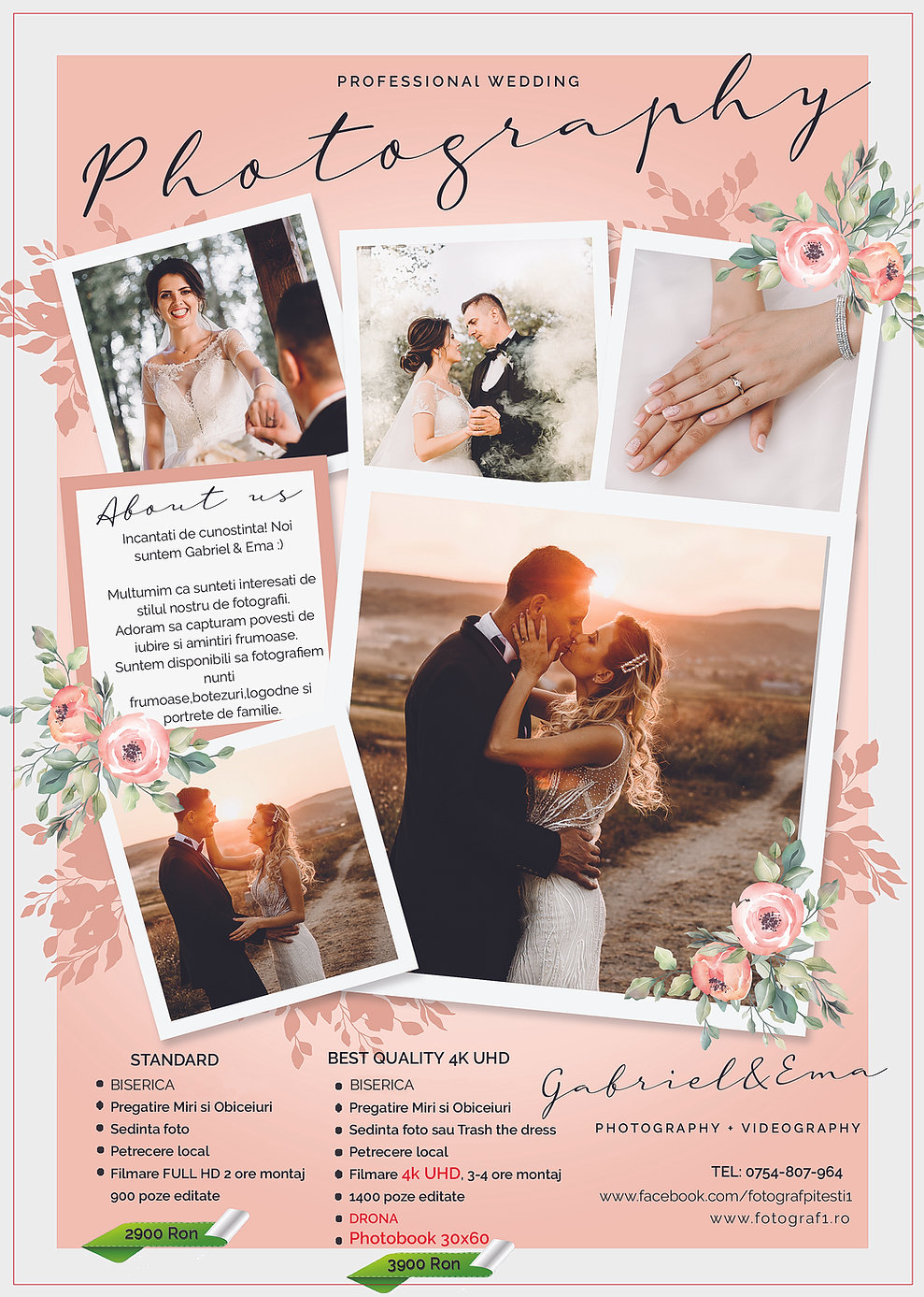 Preturi fotograf nunta Pitesti