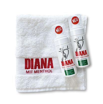 2x DIANA Duschschaum + gratis Handtuch + Versandkostenfrei