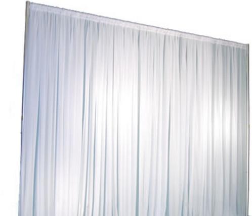Sheer White Curtain Backdrop