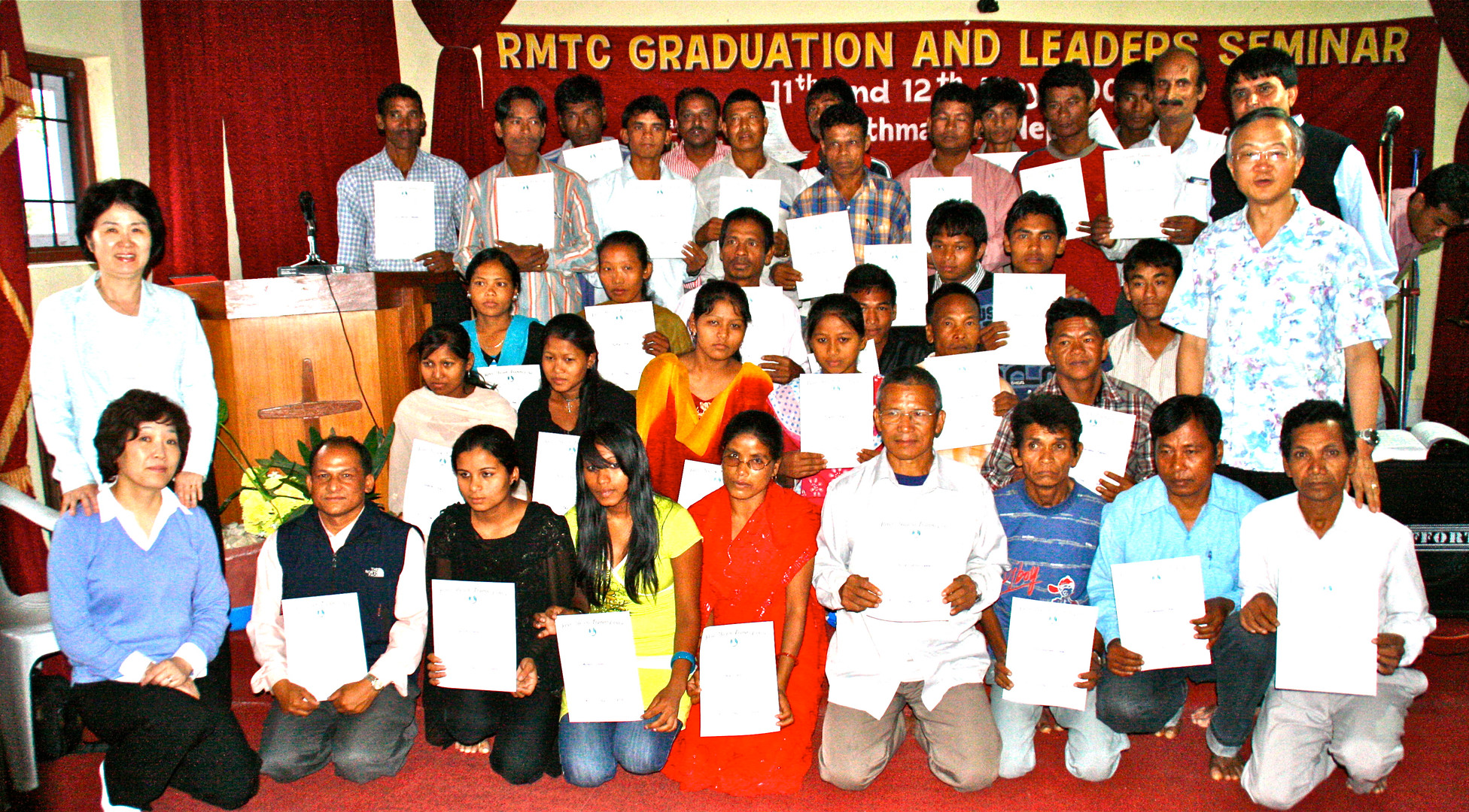 Dr. Lee with the RMTC graduate in Nepal