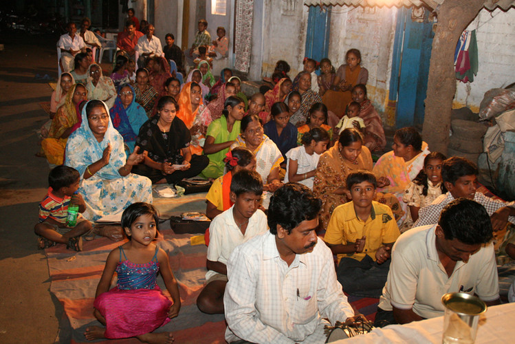 Ministering at an Indian Church