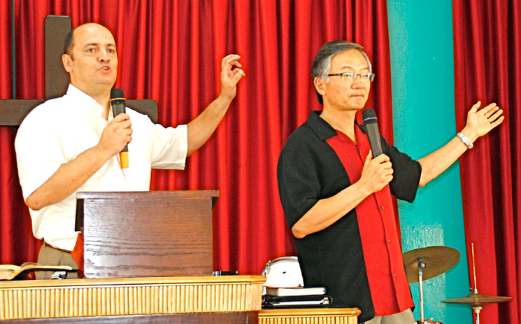 Ministering at Pastor Said's Church