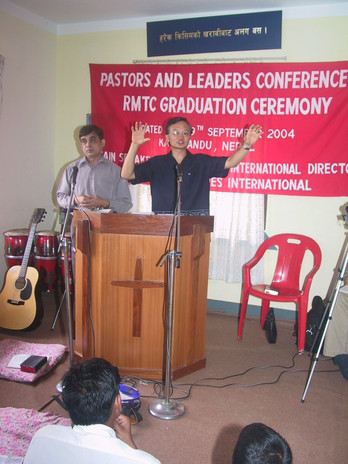 Ministering during the RMTC graduation ceremony