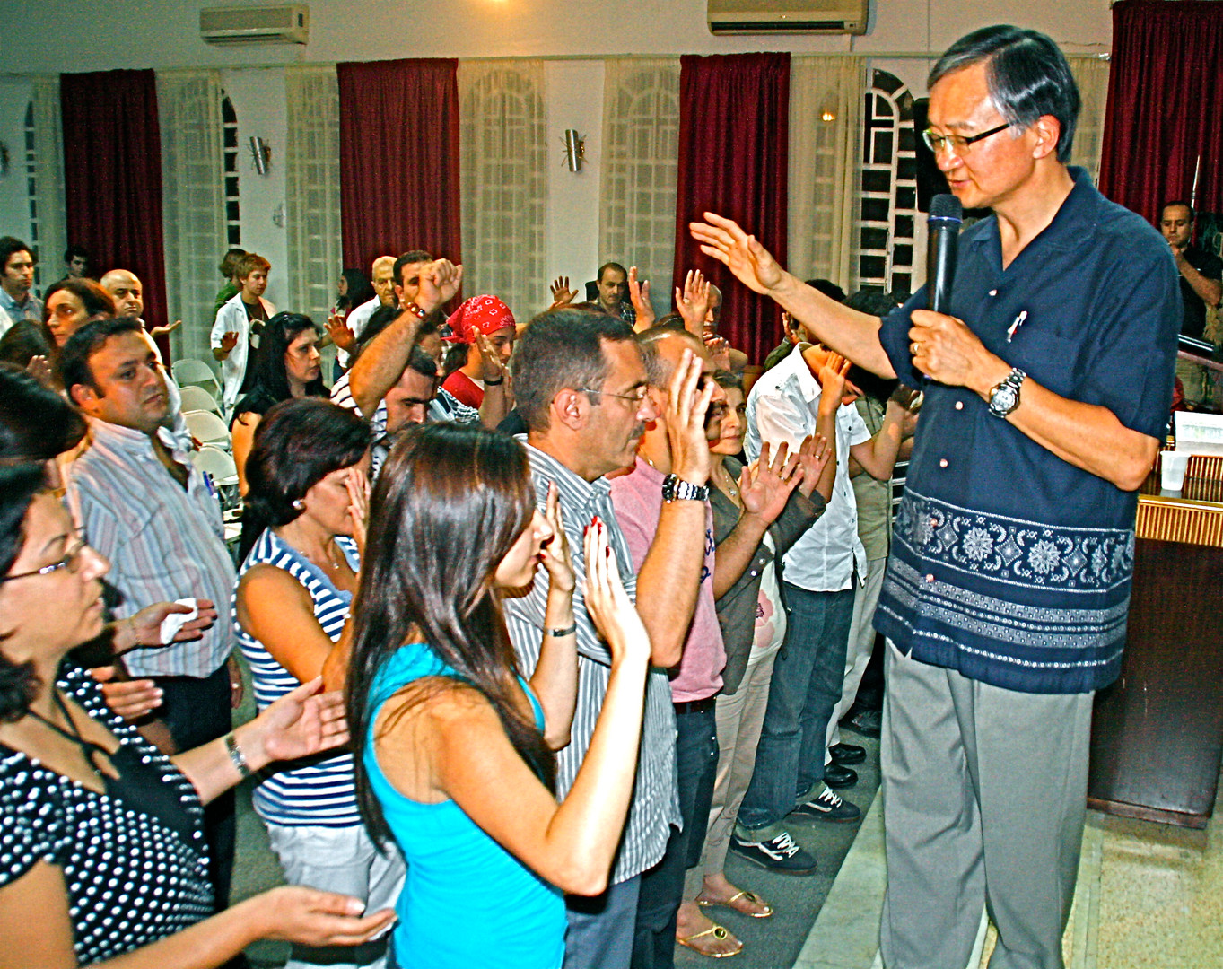 Ministering at a church in Beirut, Lebanon