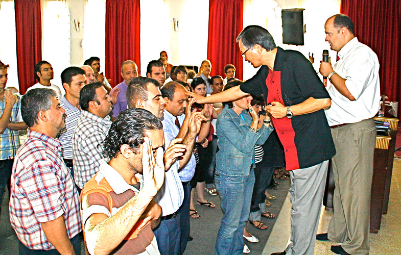 Impartation prayers for leaders in Beirut