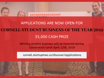 APPLY TODAY: Cornell Student Business of the Year