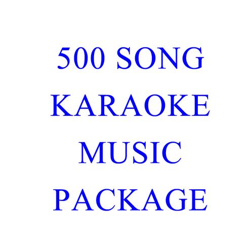 500 Song Karaoke Music Package