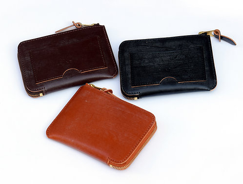 Wax Leather L-Zip Wallet