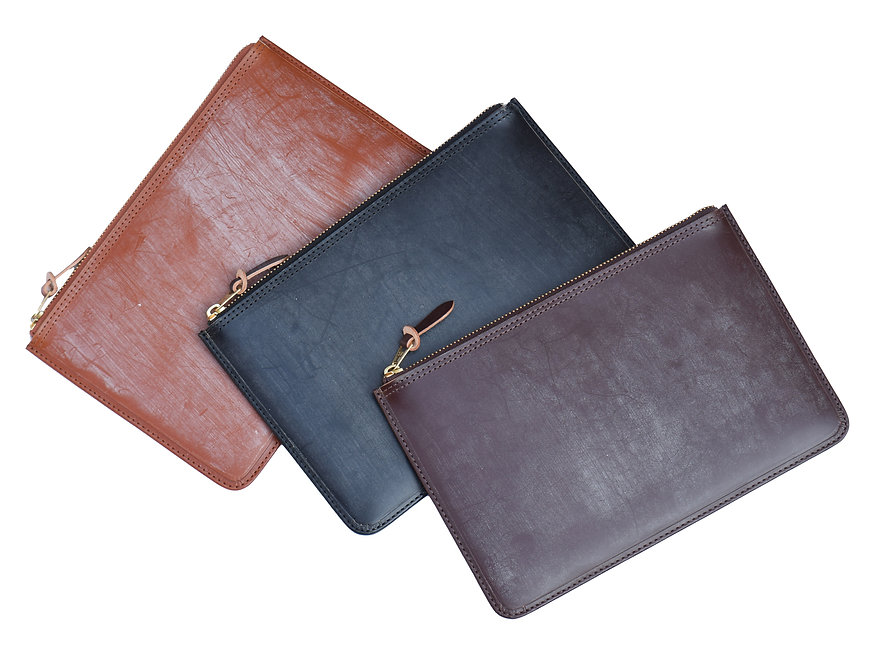 Wax Leather Pouch L