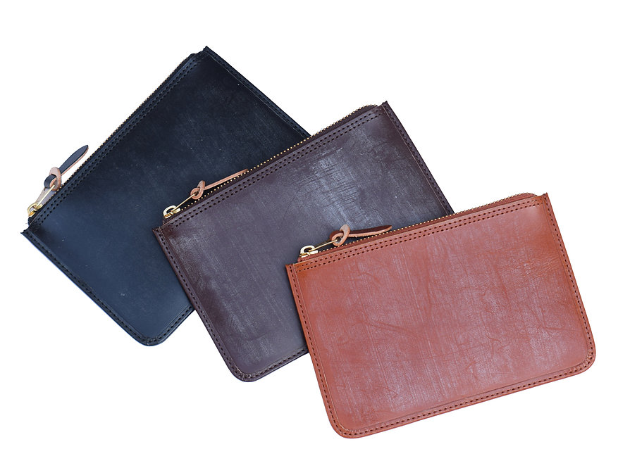 Wax Leather Pouch S