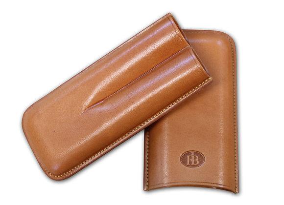 Robusto Cigar Case Brown