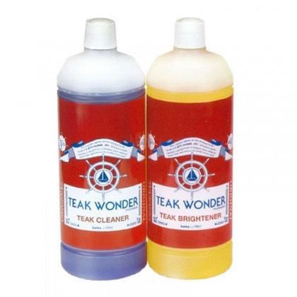 Teak Wonder Cleaner & Brightener Combo Pack 1L
