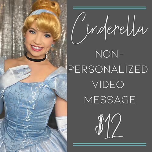 Cinderella Non-Personalized Video