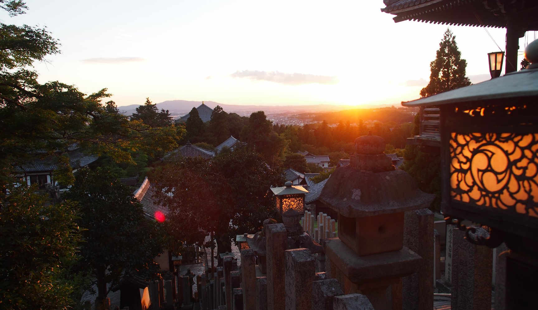 Sunset view from Nigatsudo temple